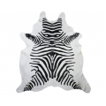 Zebra Print Cowhide Rug