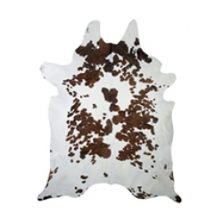 Tri Colour Cowhide Rug Large Size